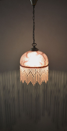 Vintage 1940s French Beaded Glass Shade