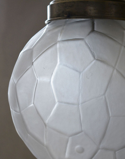 Vintage Facetted Glass Sphere Lamp Shade