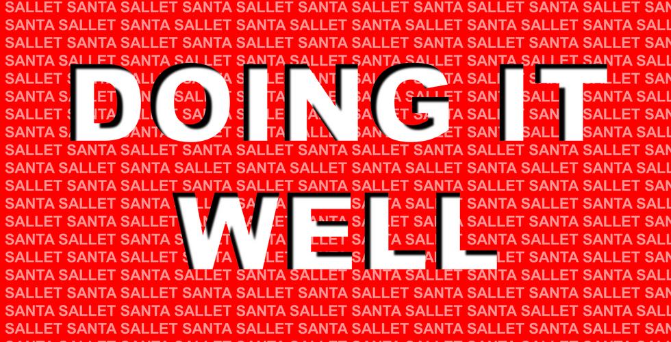 Santa Sallet - Doing it Well Cover ARt.p