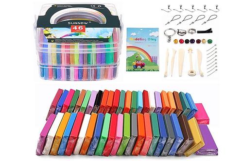 Polymer Clay Starter Kit Hobby Kinderen Ouders Creatief Knutselen Kleien Bakklei