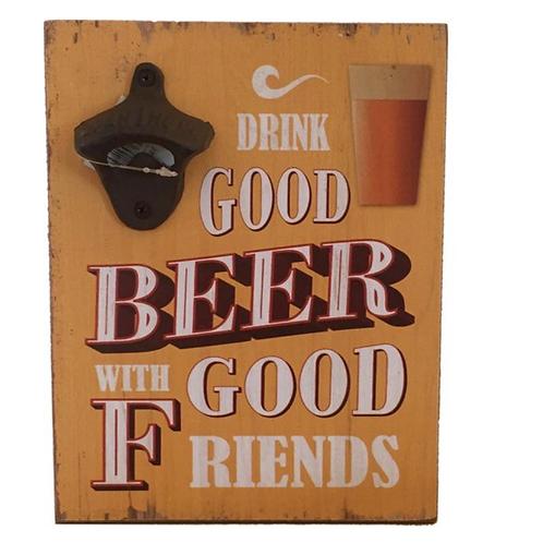 Wandborden Hout Spreukbord Met Tekst Bier Fles Opener Woondecoratie Man Cave