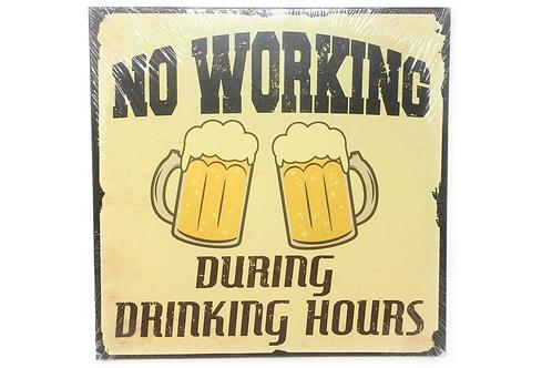 Wandbord Canvas Spreuk Beer Bier