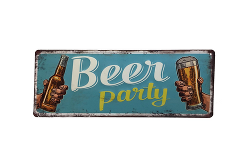 Metalen Borden Met Spreuken Bier Party Motieven Tekst Retro Vintage Wandborden