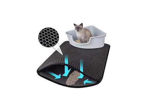 Kattenbakmat Groot Dubbellaags Met Opvang Rubber Kattenbakvulling Mat Cat Litter