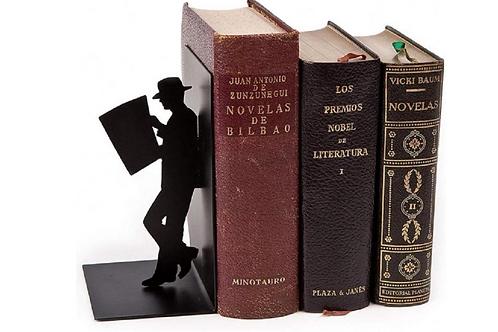 Boekensteun Metaal Zwart Grappig Decoractief Kopen Boekenkast