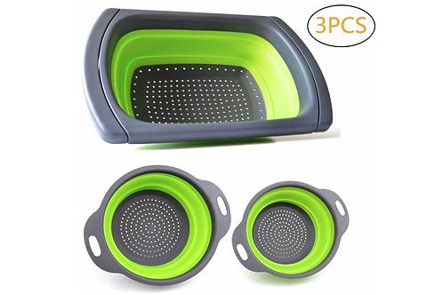 Keukenzeef Plastic Opvouwbaar Vergiet In Spoelbak Inklapbaar Keuken Zeef