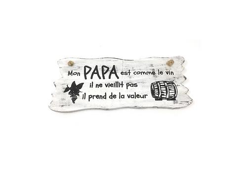 "Wandborden Hout Spreukbord ""Papa"" Woondecoratie Cadeau"