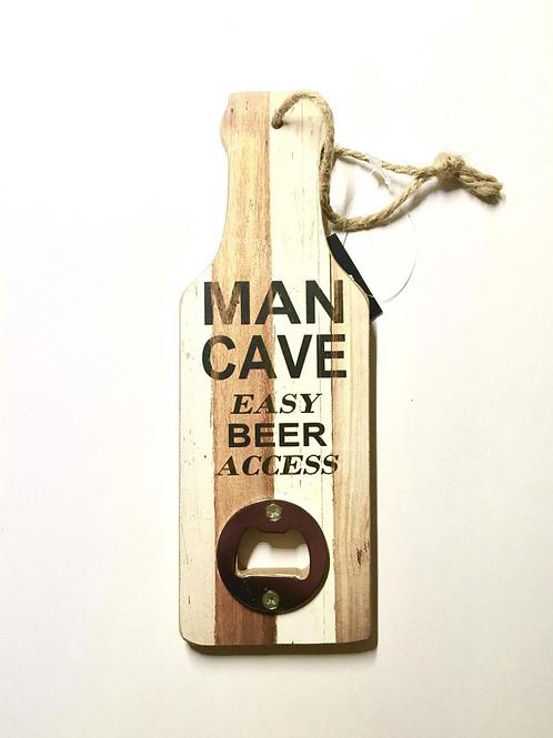 Flesopener Tekst Voor Aan De Muur Mancave Houten Fles Opener Gadget Cadeau