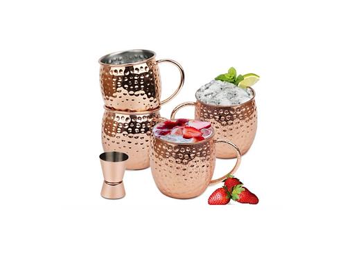 Moscow Mule Beker Koper Cadeau Set Cocktail Vodka Cups 50cl