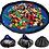 Thumbnail: Speelkleed en Opbergzak - Speelgoed Mat Organizer Speelmat voor Kinderen - Blauw