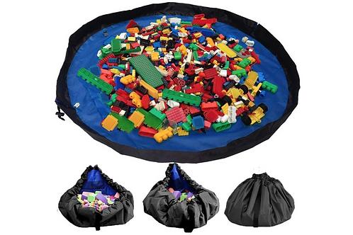 Speelkleed en Opbergzak - Speelgoed Mat Organizer Speelmat voor Kinderen - Blauw