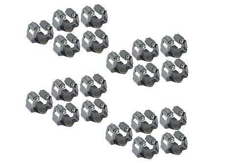 Gereedschapshouder Klemmen Metaal Verend Systeem Muur Harken Spade Steel