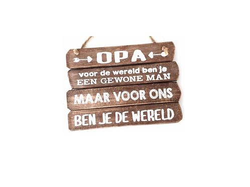 """Wandborden Hout Spreukbord """"Opa""""  Spreuken Familie Woondecoratie Cadeau"""