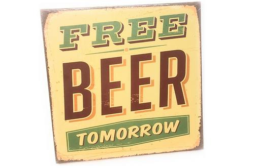 Wandbord Canvas Spreuk Beer Bier Verjaardag Cadeau