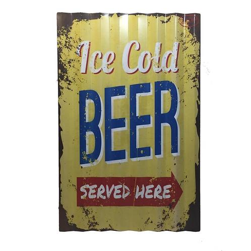 Metalen Borden Met Spreuken Bier Party Ice Cold Motieven Tekst Retro Vintage