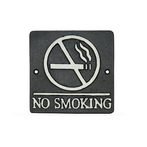 No Smoking Sign Wandbord IJzer Woondecoratie