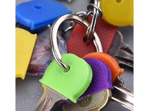 Sleutelkapje kleur vierkante ronde sleutelhoesjes sleutels uit elkaar houden