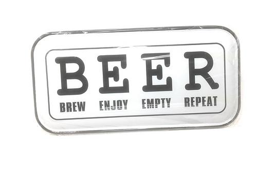 Metalen Borden Met Spreuken Beer Motieven Tekst Retro Vintage Wandborden Bier