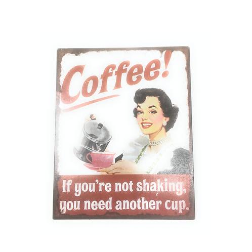 Metalen Wandbord Koffie