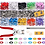 Thumbnail: drukknopen met tang set bevestigen van drukknop kleur assortimentsdoos