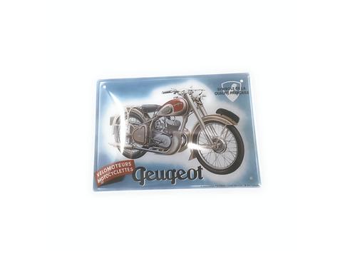 Wandbord metaal met Peugeot 20x15