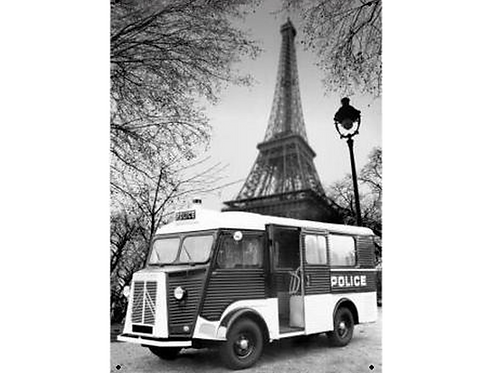 Citroen Camion Police Metalen wandbord 20 x 30 cm
