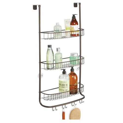 Doucherek hangend aan douchewand douchedeur zonder boren