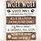 """Thumbnail: Wandborden Hout Spreuken Honden """"Woef Woef"""" Woondecoratie Cadeau Verjaardag"""