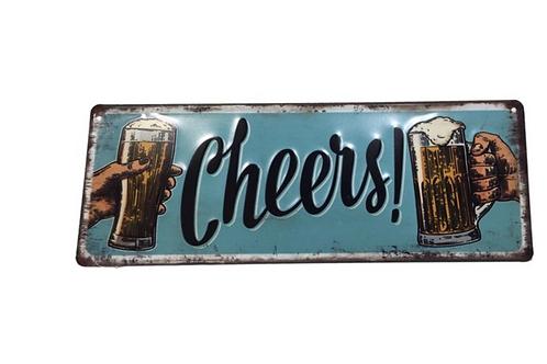 Metalen Borden Met Spreuken Bier Motieven Tekst Retro Vintage Wandborden