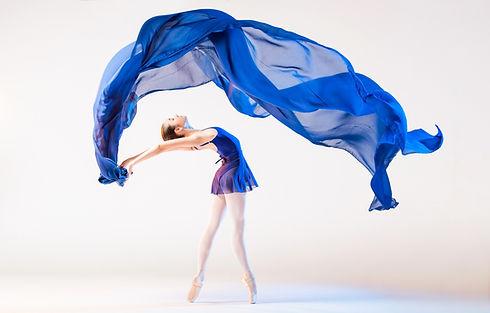 Blue scarf dancer on pointe shutterstock