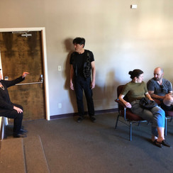 Devising Cast pre-show at Friendship Manor