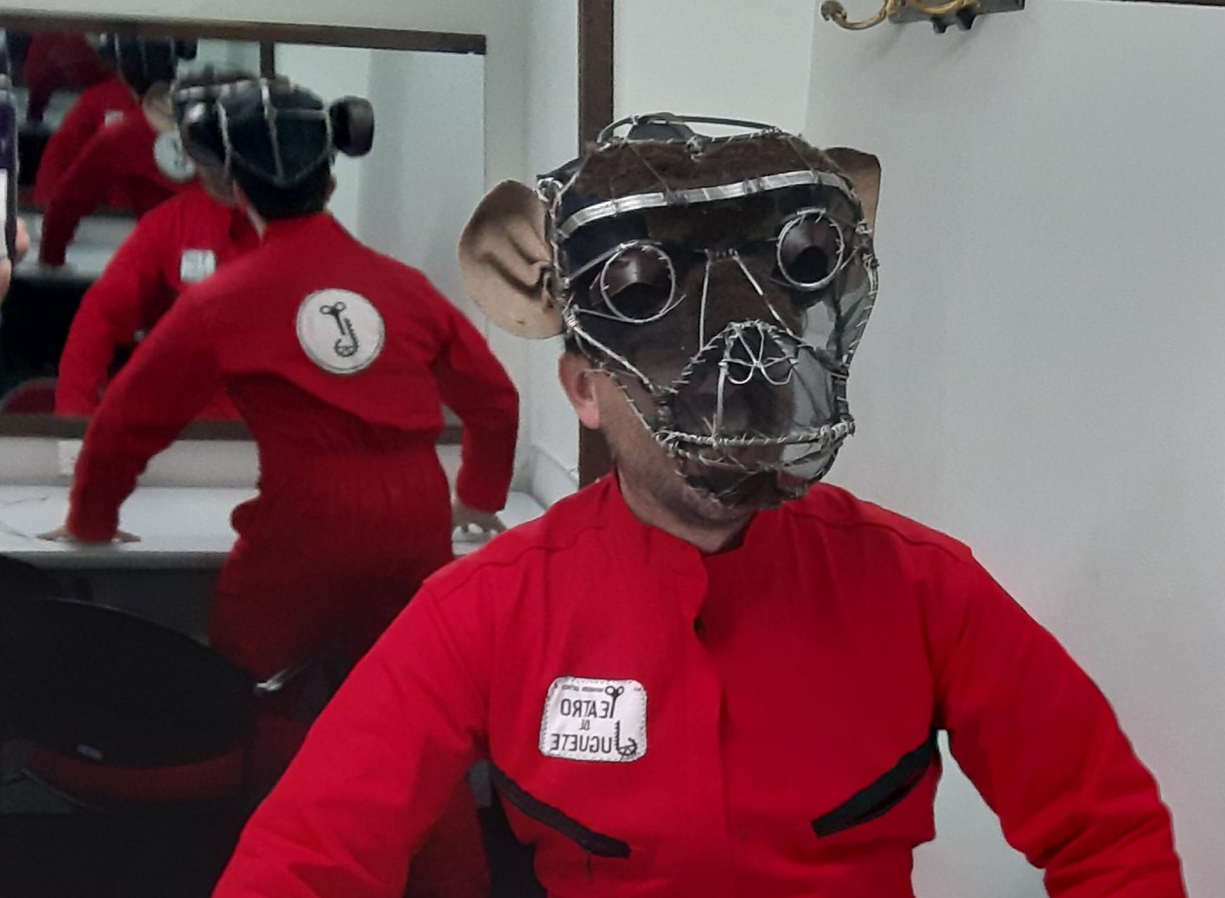 Máscara de mono para danza