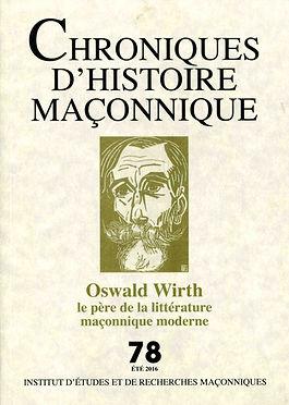 Revue Chroniques d'histoire maçonnique