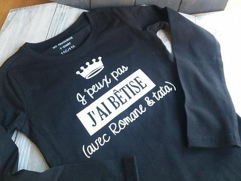 """T-shirt """"Bêtises"""""""