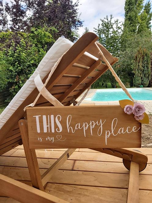Panneau Happy Place