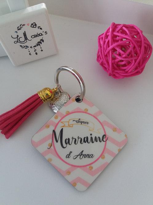 Porte-clefs Super Parrain / Marraine
