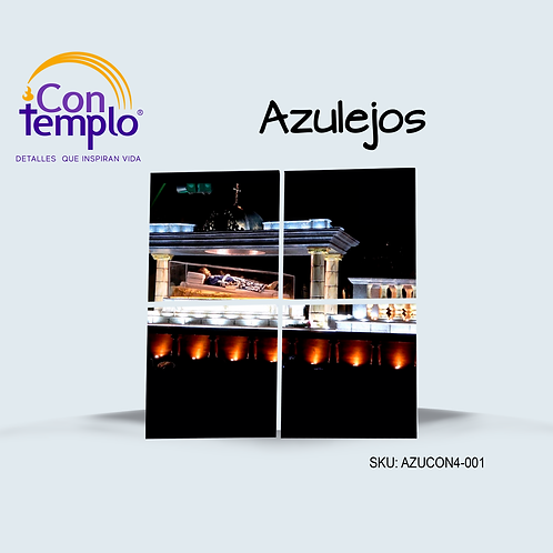 MURAL DE 4 AZULEJOS CONTEMPLO