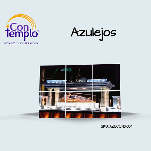 MURAL DE 6 AZULEJOS CONTEMPLO