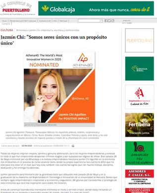 Interview for the newspaper La comarca de Puertollano, Spain