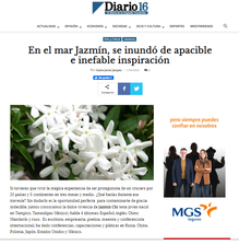 """SPAIN-News of the presentation of the anthology of poetry """"A Jasmine around the world"""" in the newspaper """"Diario 16"""""""