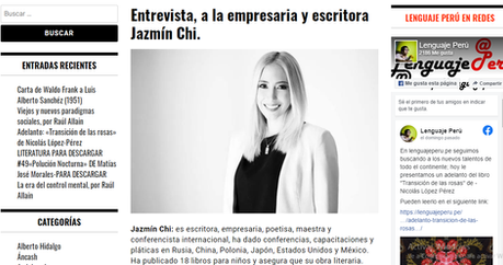 Interview for the  Lenguaje Perú Newspaper