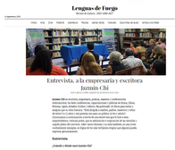 Interview for the Lenguas de Fuego Magazine