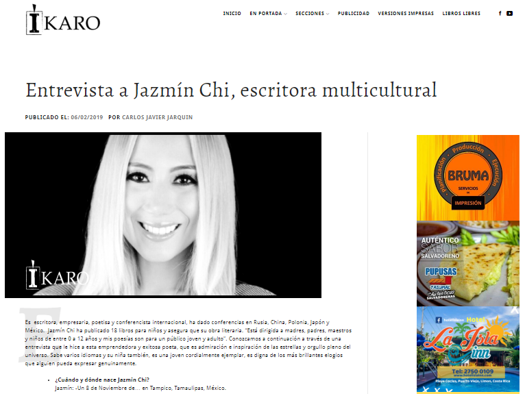 Interview for the Íkaro Magazine, Costa Rica