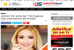 Jazmín is declared one of the 120 most innovative women in the world, El Sol de las Américas Newspaper, Puerto Rico