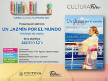 """Poster for the Book Tour """"A Jasmine around the world"""""""