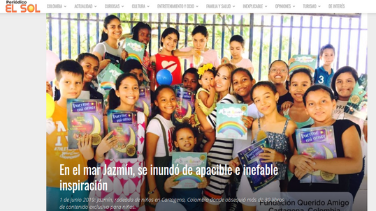 """COLOMBIA-News of the presentation of the anthology of poetry """"A Jasmine around the world"""" in the newspaper """"El Sol"""""""