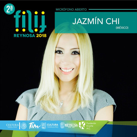 Jazmín is one of the invited writers at the Children's and Youth International Book Fair in Mexico