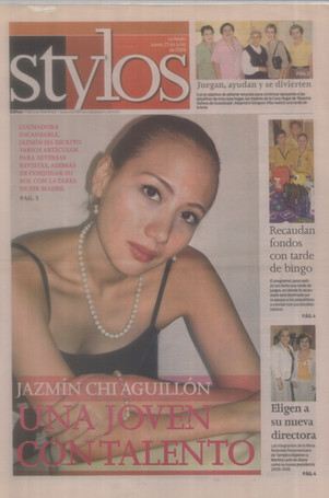 """Jazmín is declared """"A young woman with talent"""" by the La Razón Newspaper, Mexico"""