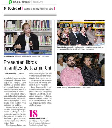 Jazmín presenting her Children's Books, México