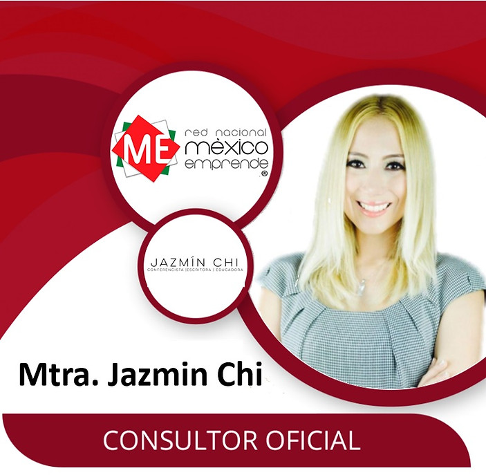 Jazmín is an official advisor of the Mexico Emprende National Network, Mexico